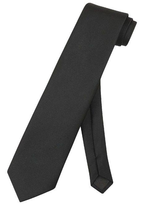 """COVONA Narrow NeckTie Skinny BLACK DESIGN Color Men/'s Thin Neck Tie 2.5/"""""""