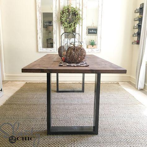 Diy Rustic Modern Dining Table Dinning Room