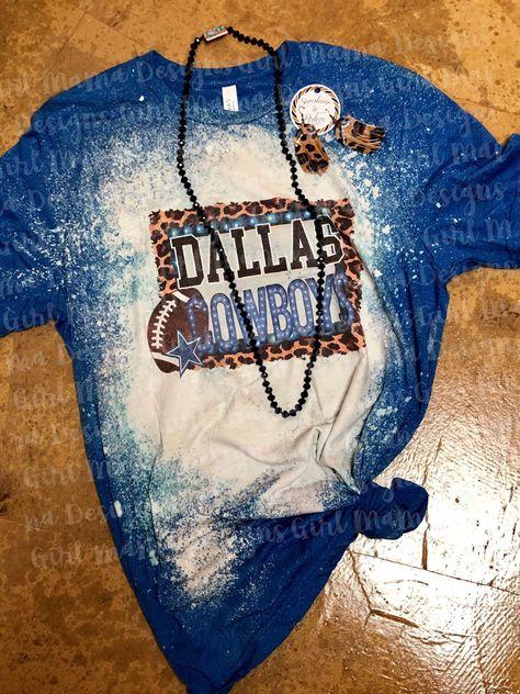 Discover recipes, home ideas, style inspiration and other ideas to try. Bleach Shirt Diy, T Shirt Diy, Shirt Refashion, Acid Wash Shirt, Cute Shirt Designs, Funny T Shirt Sayings, Texas Shirts, Vinyl Shirts, Dallas Cowboys
