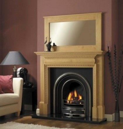 Wooden Fireplaces With High Efficiency Wood Fireplace With Pellet
