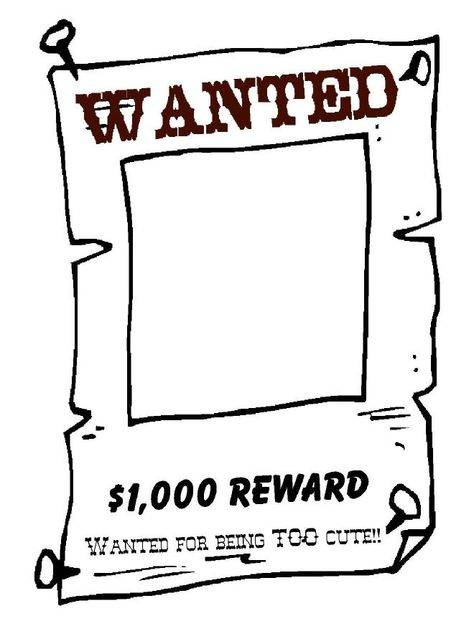 Cowboy Adjectives template for craft that accompanies the writing - wanted poster template