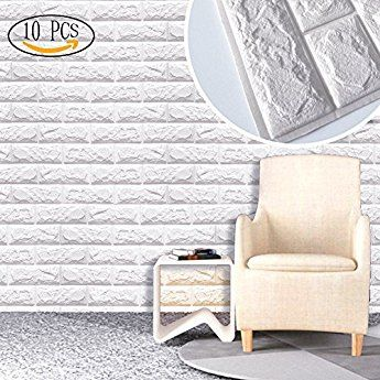 repique extra/íble y pegatina de pared de espuma PE para sala de estar 22.05 sq.ft 5 piezas 3D Papel tapiz de Estilo de madera 5 piezas 3D Papel tapiz de Estilo de madera