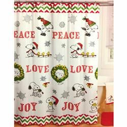 From Jay Franco Bring The Magic Of A Charlie Brown Christmas Home With This Peanuts Holiday Shower Curt Holiday Shower Curtains Holiday Shower Christmas Home