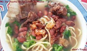 Resep Mie Sup Brenebon Kacang Merah Masakan Manado