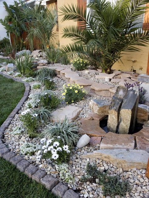 Aus Liebe zum Stein Beeteinfassung Garten Pinterest Gardens - moderner vorgarten mit kies
