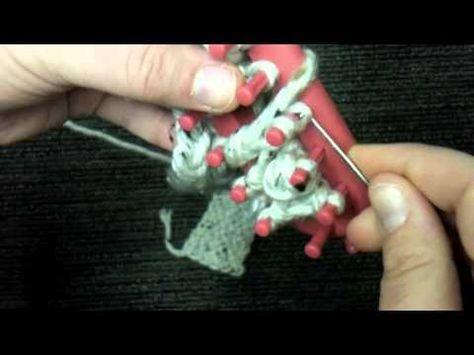 Loom Knit: Twisted Keyhole stitch (double knit)