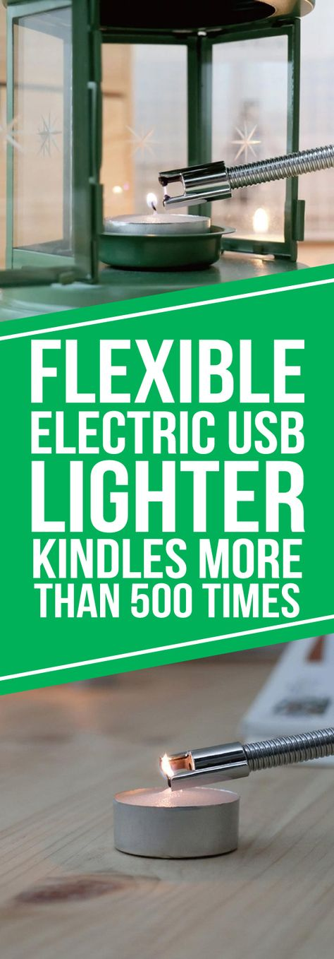 The Flexible Electric USB Lighter is a Rechargeable Electric Lighter that requires no flame, no butane and no hassle! Safe and practical, the Li-ion battery can be ignited more than 500 times when fully charged.