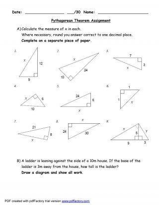 Free Pythagorean Theorem 03 Pythagorean Theorem Geometry Worksheets Pythagorean Theorem Worksheet