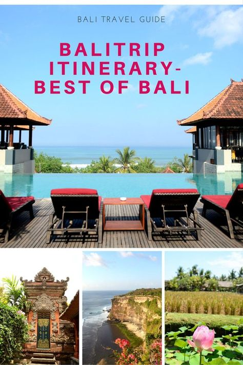 A trip to Bali guarantees a perfect getaway. With Bali's exotic Hindu temples, beaches, paddy fields and spas, Bali is undeniably fascinating ant it'll be love at first sight. #bali #indonesia #indonesiatravel #balitrip #baliitinerary