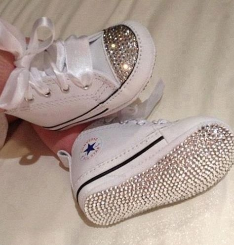 Bling baby shoes, Baby converse, Baby bling