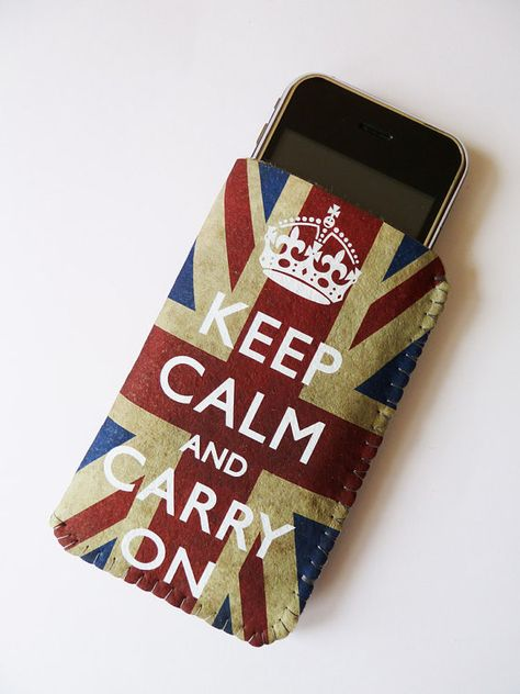 iPhone Case Grunge Union Jack Keep Calm And Carry On by CrankCases, $20.00