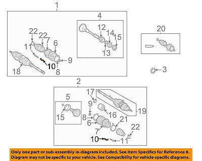 Ad Ebay Toyota Oem Drive Axles Front Inner Joint Retainer 4348917010 In 2020 Axle Toyota Retainers