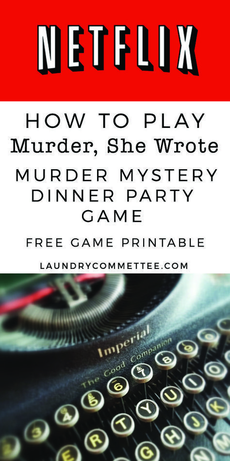 image relating to Free Printable Mystery Games identified as Netflix Murder, She Wrote Murder magic formula binge observing sport