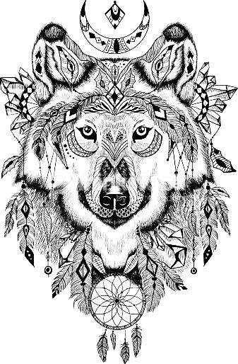 coloring : Colouring In Simple New Big Wolf Head Simple Wolves ...   514x337