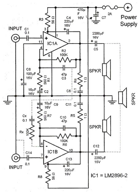 Stereo Amplifier Circuit Diagram Electrical Concepts Pinterest