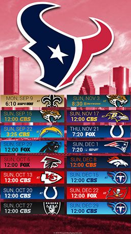 2019 Texans Schedule Houston Texans 2019 Mobile City NFL Schedule Wallpaper | 2019 NFL