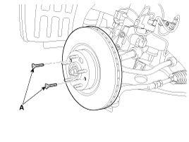 Kia Sorento Front Disc Brake Removal Brake System Brake System Kia Sorento Xm 2011 2020 Service Manual In 2020