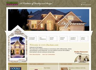 This Home Builder Website Design Example Does A Nice Job With The