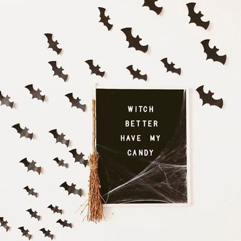 Seeing your boards get October-fied has been so much fun. And we're curious. what do you currently have on your board? Felt Letter Board, Felt Letters, Felt Boards, Word Board, Quote Board, Message Board, Holidays Halloween, Halloween Decorations, Happy Halloween