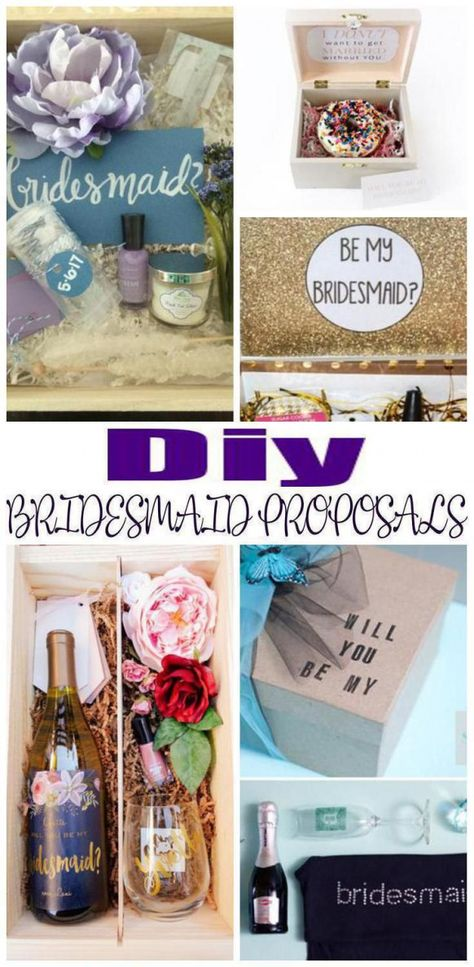 DIY Bridesmaid Proposals! Find amazing fun creative and unique DIY bridesmaid proposal ideas. Great ideas for future bridesmaids maid of honor or junior flower girls! So many amazing ideas from alcohol spa boxes & more. Cheap elegant and fun stuff! Find the best DIY bridesmaid proposal ideas now! #bridemaidsgiftsdiycheap #howtogethimtopropose