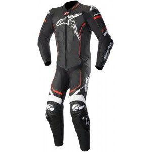 color negro Alpinestars Stella Gp Plus R V2 Chaqueta de piel para moto talla 48 blanco y rojo