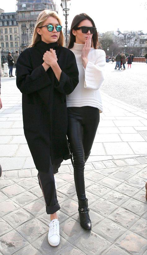 Gigi Hadid & Kendall Jenner's Spring Street Style ----off duty model life