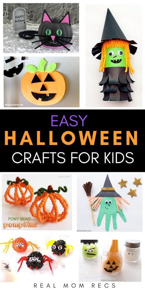 Cute And Simple Halloween Crafts For Kids To Make Toddler
