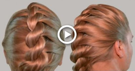 French Twist Into Rope Braid Back To School Hairstyles Video Tutorial French Twist Hair Hairstyles For School Rope Braided Hairstyle