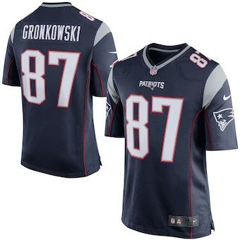 Rob Gronkowski New England Patriots Nike Game Jersey Navy Blue Silver With Images Jersey Patriots New England Patriots New England Patriots Game