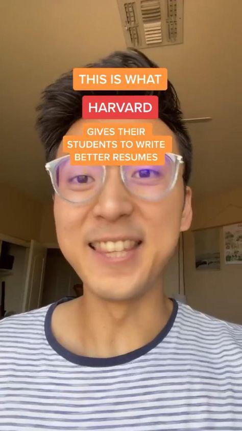 How to write a HARVARD quality resume