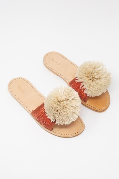 Samuji Grano \u0026 Pontova Pom-Pom Sandals