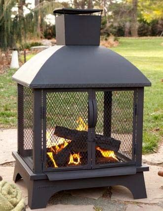 By Outdoor Design Wood Burning Fireplace Stainless
