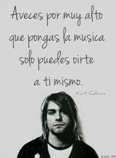 A veces por muy alto que pongas la música solo puedes oírte a ti mismo.