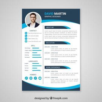 Vector Curriculum Vitae Template Free Resume Design Template
