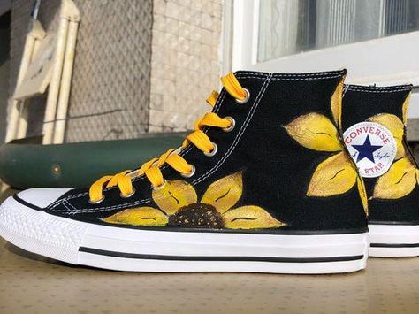 Scarpe converse di girasole | Etsy | Scarpe converse, Converse, Scarpe