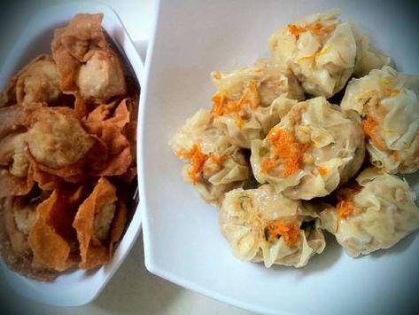 Resep Siomay Ayam Kuah Pangsit Goreng 1 Adonan Daging Simpel Oleh Tintin Rayner Resep Resep Resep Makanan Pangsit