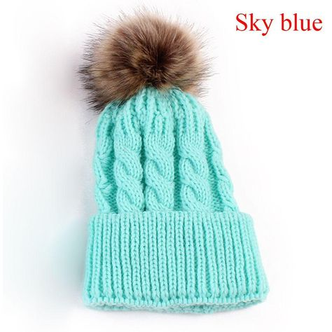 1Pc Candy Colors Mom or Baby Knitting Keep Warm Hat Women Winter Hat Family  Matching Outfits Mom Baby Hats 30ee971771ef