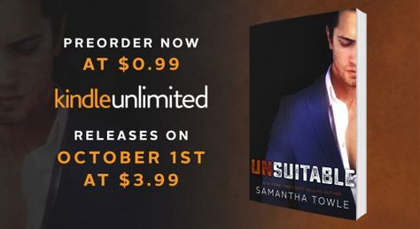 UNSUITABLE PREORDER IS LIVE! | Latest News | Samantha Towle