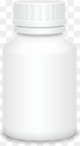 White Vector Medicine Bottle Medicine Bottles Black Panther Art Bottle