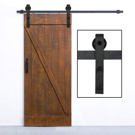 10 Feet Arrow Style Sliding Barn Door Hardware Barn Wood Door Track Wheel Kit Sliding Barn Door Hardware Wood Doors Barn Door Hardware