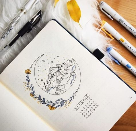drawing, planner, and school image