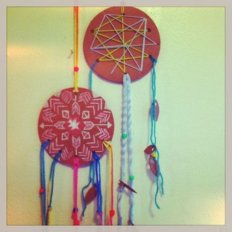 Kids dreamcatcher kits.   credit Rachel Rice.
