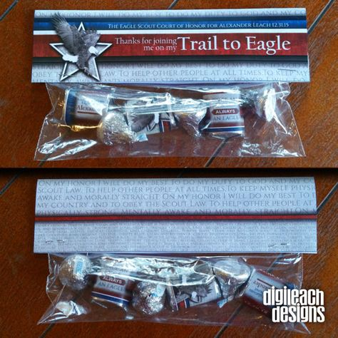 Eagle Scout Court of Honor Treat Bag Topper: Gray Eagle