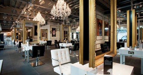 Image Result For Hanging Mirror Salon Station Hair Salon Interior Salon Interior Design Beauty Salon Decor
