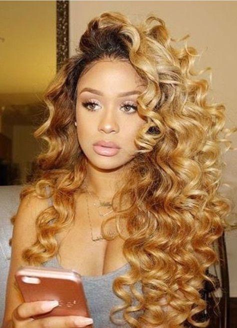 Big Honey Blonde Curlz Honey Blonde Hair Hair Styles