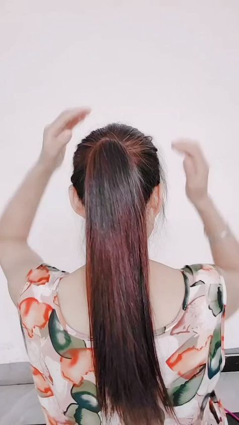 Click To Visit Me For More Simple Hairstyle Introduction Hairstyles For Home Diy Hair Easy Video Medium Hairstyles Easy Hair Updos Hair Styles Easy Hairstyles