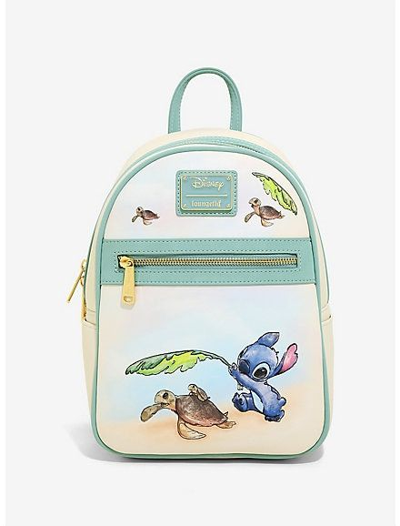 Loungefly Disney Lilo & Stitch Turtles Mini Backpack - New with Tags, Fast Ship Cute Stitch, Lilo Stitch, Stitch Backpack, Cute Mini Backpacks, Awesome Backpacks, Stylish Backpacks, Capsule Wardrobe, Faux Leather Backpack, Leather Backpacks