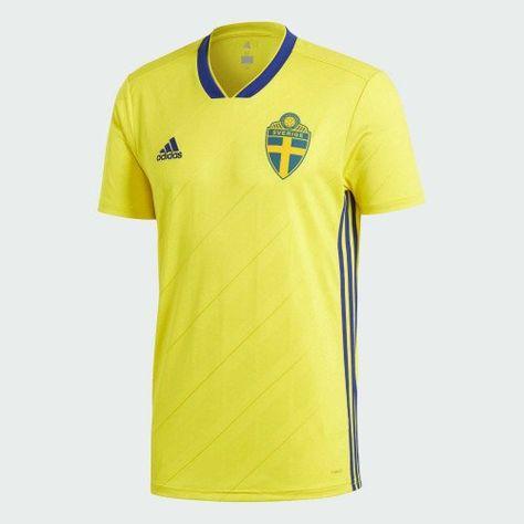 8945c0c77 shirt+2018-2019+Sweden+Home+Adidas+Football+Shirt