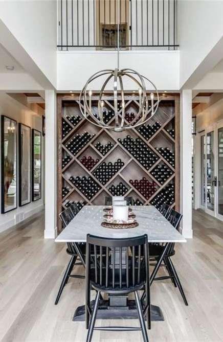 Wine Cellar Farmhouse Dining Room, Wine Storage Dining Room
