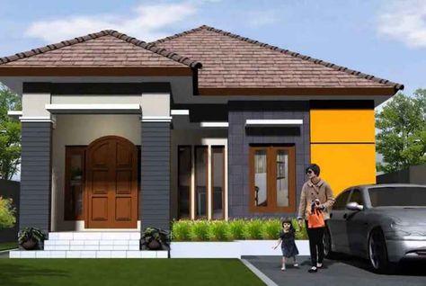 desain denah rumah: desain rumah modern minimalis 1 lantai